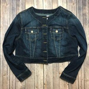 Torrid Cropped Jean Jacket Sz 0